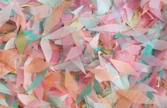 This set of confetti would be PERFECT if we ended up going with the greeny-blue and dusty rose colours
