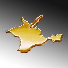 KRIM Kettenanhänger in massiv 585 Gold Ukraine