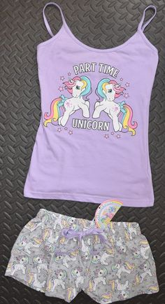 1bd2fe9519 PRIMARK My Little Pony Vest   Shorts Set PJ PYJAMAS Unicorn UK Sizes 4 - 20  NEW