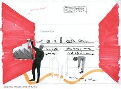 ARC204 (2015-16): Creative Hub. / Co-working Space in Suzhou - Interim Review - Jiang Hao - Sketch