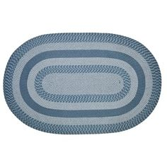 Newport Braided Rug - Slate Blue - 3'6 x 5'6' | Overstock.com Shopping - The Best Deals on 3x5 - 4x6 Rugs