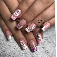Nail Polish Art, Nail Art, Super Nails, Cute Nail Designs, Pink Nails, Beauty Nails, Manicure, Glow, Lily