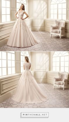 Wedding Dress EK1065 – Eddy K Bridal Gowns | Designer Wedding Dresses 2017 V-neck, cap sleeve, ballgown, tulle and embroidered corded lace wedding dress. - created via https://pinthemall.net