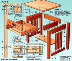 Woodworking plan for side table. Wood Projects That Sell, Woodworking Projects That Sell, Diy Wood Projects, Furniture Projects, Home Projects, Woodworking Plans, Mission Style Furniture, Got Wood, Plan Design