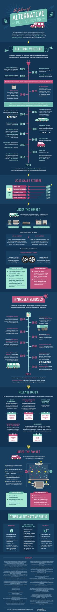 The Future of Alternative Fuel Vehicles #infographic #Transportation #Cars