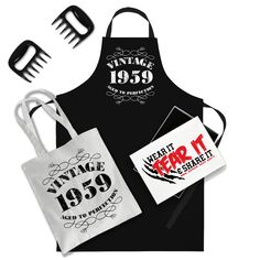 60th Birthday Gifts for Men Him Dad Husband BBQ Cooking Apron Vintage 1959