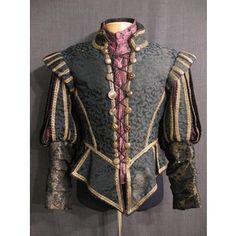 Costumes/Renaissance Elizabethan/Men's Wear/Renaissance Doublets & Suits/09027080 Doublet Renaissance green purple C39 W34