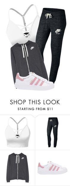"""""""Jogging"""" by rosie443 on Polyvore featuring J.TOMSON, NIKE and adidas Originals"""