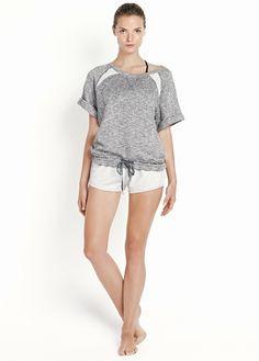 Yoga - Relaxed short sleeved sweater #Sport #Mango #New #FW13