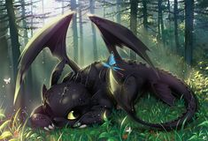 Croc Mou dans Dragons Toothless_nap_by_MelloLover