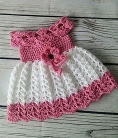 Crochet baby dress infant baby dress handmade baby girl dress baby girl gift baby shower gift infant dress coming home dress pink Beau Crochet, Crochet Baby Dress Pattern, Baby Dress Patterns, Crochet Patterns, Crochet Toddler, Baby Girl Crochet, Crochet Baby Clothes, Crochet For Kids, Handgemachtes Baby