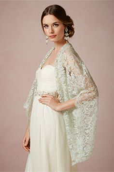 Trickling Capelet from BHLDN - Arts/Crafts - Pinterest - My hair ...