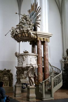 Berlin, Karl-Liebknecht-Straße, Marienkirche, Kanzel (St. Mary's Church, pulpit) by HEN-Magonza, via Flickr