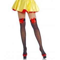 Overknee Stockings Snow White Jolanda schwarz rot