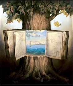 Art Gallery: Salvador Dali Paintings What do you imagine when staring at a hundred year old oak? If only it could speak of the days past...or maybe grow a novel before its death? How wonderful this imagination of Dali's mind would be if it could come true!