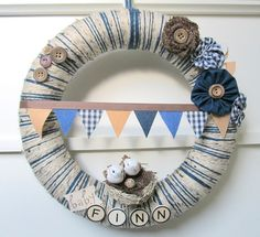 boy nursery wreath - Google Search