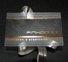 Frosted transparent business cards, gold hot foil printing - http://www.bce-online.com/en/