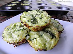 Mini Zucchini Cheese Bites / #lowcarb shared on https://facebook.com/lowcarbzen