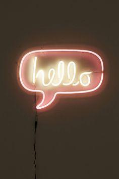 Slide View: 3: Hello Neon Sign