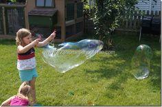 123 Homeschool 4 Me: Bubble Solution for a GIANT Bubble