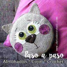 Cojin Gato Crochet paso a paso