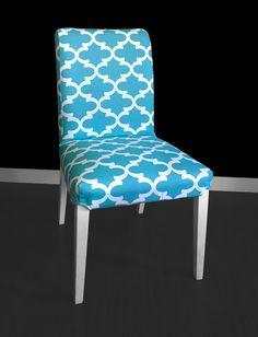 IKEA HENRIKSDAL Dining Chair Cover  Fynn Regatta Blue by RockinCushions