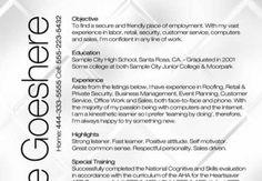 Work Resume Template The Edger  Work  Pinterest