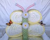 Butterfly Shaped Diaper Cake