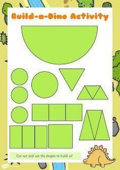 laminate and cut out Dinosaur Theme Preschool, Dinosaur Activities, Preschool Themes, Preschool Lessons, Preschool Crafts, Toddler Activities, Preschool Activities, Dinosaur Crafts Kids, Dinosaur Worksheets