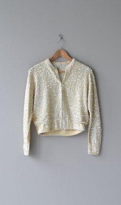 Refracted Light sweater 1950s sequin cardigan by DearGolden