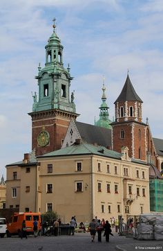 Wewel Cathedral & Clock Tower, Krakow, Poland