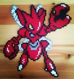 Scizor Pokemon perler beads by pixelart698