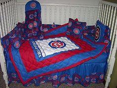 new custom baby crib bedding set mw chicago cubs fabric | baby