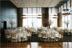 Gorgeous Wedding Venue with Downtown View ~ Houston Wedding Venue ~ Texas Wedding Venue: Petroleum Club of Houston ~ Photo: D. Jones Photography