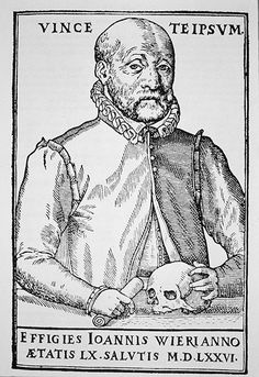 Johann Weyer, History of Magic, woodcut 1577 The Founder of Modern Psychiatry. Johann Weyer used his compassion and a pioneering approach to mental illness to oppose the witch-craze of early modern Europe. via History Today Maleficarum, Current Picture, Medical History, Psychiatry, Occult, The Magicians, Witchcraft, Mental Illness, Compassion