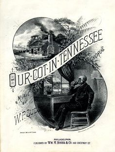 WONDERFUL A4 GLOSSY PRINT - 'OUR COT IN TENNESSEE' - CIRCA 1882 (A4 PRINTS - VINTAGE SHEET MUSIC / SONG BOOK COVERS) by Unknown http://www.amazon.co.uk/dp/B004IYV6SE/ref=cm_sw_r_pi_dp_4O3ovb1ATM5A3