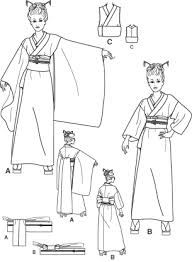 Afbeeldingsresultaat voor traditional japanese kimono sewing pattern