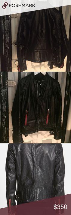 Selling this Diesel Leather Motorcycle Jacket on Poshmark! My username is: kevsmi007. #shopmycloset #poshmark #fashion #shopping #style #forsale #Diesel #Jackets & Blazers