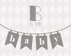 Baby printable grey // typography
