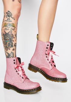556abe93f3d 1460 Pascal Pink Glitter Boots. Dr Martens 1460Doc ...