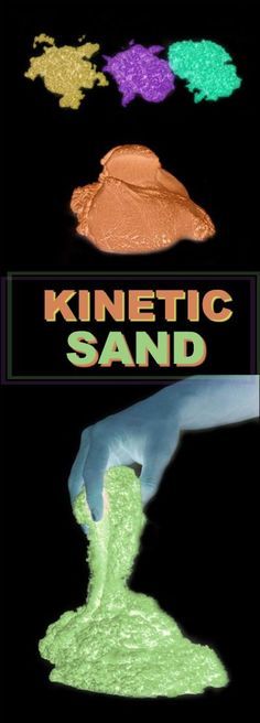 FUN KID PROJECT: Make Kinetic Sand that glows-in-the-dark!  (My kids loved this!)