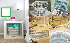 Diy basket from the dollar store! Brilliant!
