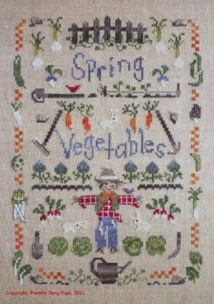 Spring Garden in Stitches