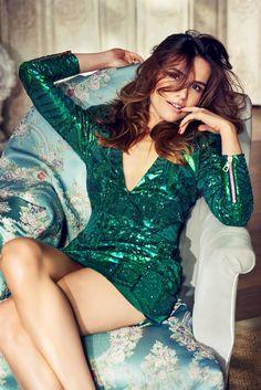 Marta Żmuda Trzebiatowska w sukience Balmain x H&M