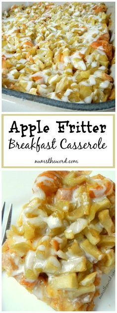 If you love apple fritters, you'll love this apple fritter breakfast casserole. Sauteed apples, croissants and icing all taste like fall! Easy & delicious!