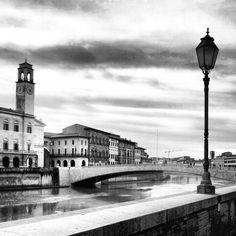 I #lungarni di #Pisa! #biancoenero
