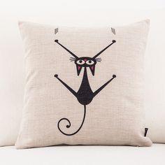 Mr. Kitster Toss Pillows