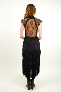 metier - of two minds fringed dress