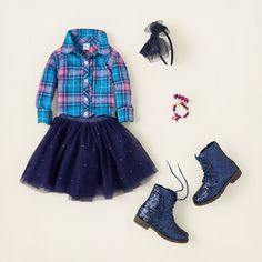 Cute but too big for my bsby girl. girl - outfits - tutu blue | Children's Clothing | Kids Clothes | The Children's Place