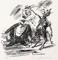 Black Magic and its Exposure - Artist: Hans Fronius, Austria - 1981